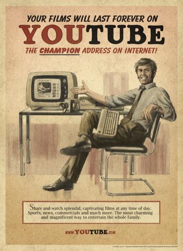 Así sería la publicidad de YouTube en los años 50