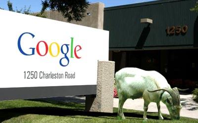Una cabra en las oficinas de Google