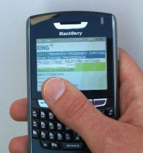 Xing en tu Blackberry