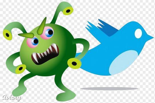 Nuevos virus atacan a Twitter...
