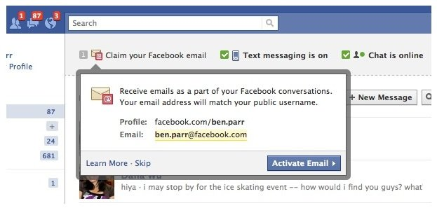 how to know my email address on facebook