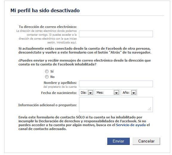 como recuperar mi cuenta de facebook si ya la elimine