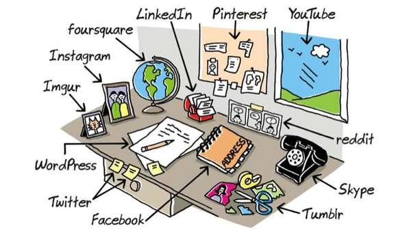 Así usábamos las redes sociales en el trabajo cuando no existía Internet [Cómic]
