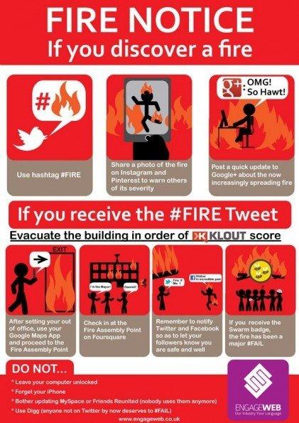 ¿Qué hacer en caso de incendio en las redes sociales? [Humor]
