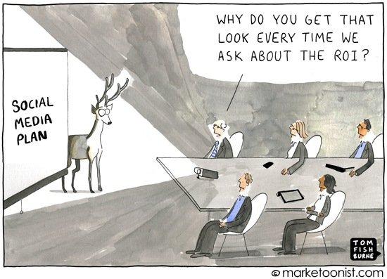 Cuando te preguntan por el ROI en Social Media... [Humor]