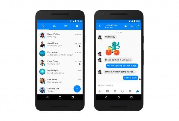 rediseño facebook messenger android