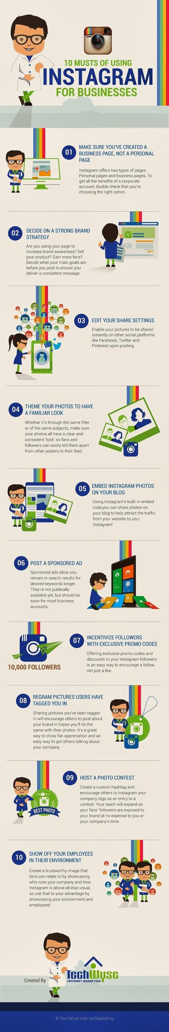 10 claves para usar Instagram en la empresa [Infografía]