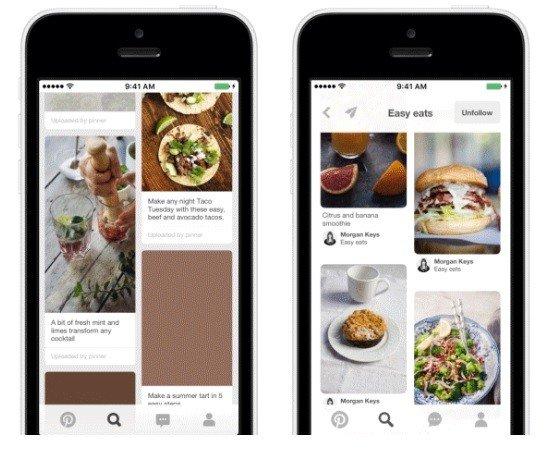 Nueva app de Pinterest para iOS: Más moderna y más rápida
