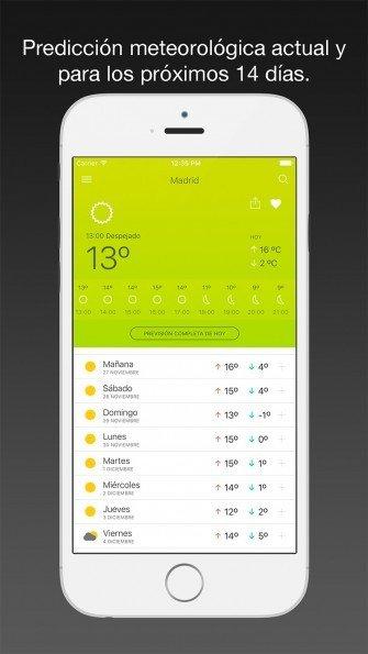 El Tiempo 14 días, la aplicación meteorológica definitiva