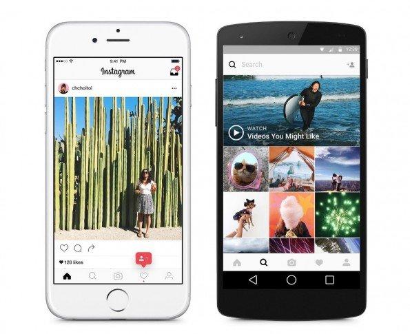 Así es el nuevo diseño de la app de fotografías Instagram