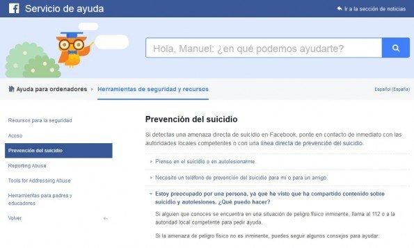 Facebook añade un botón en la plataforma para prevenir el suicidio