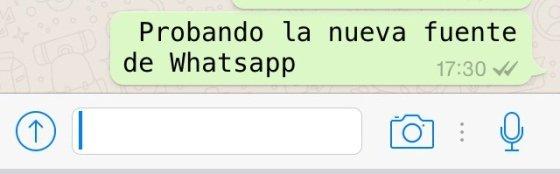 Te decimos cómo probar el nuevo tipo de letra de WhatsApp
