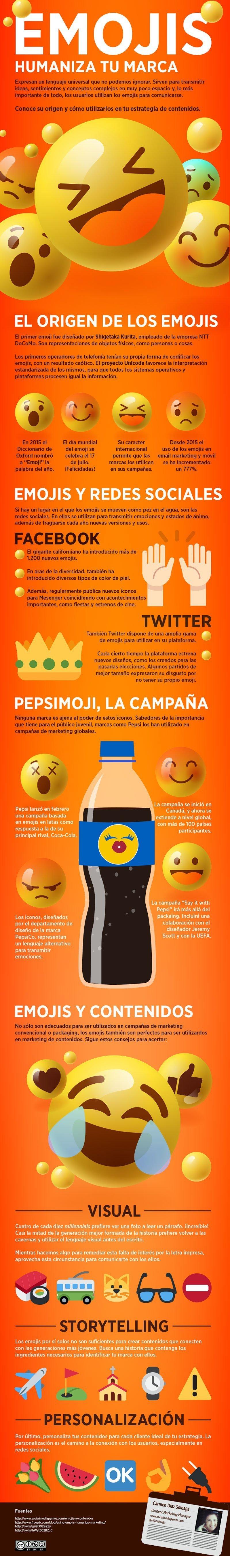 Los emojis también son muy útiles para humanizar tu marca