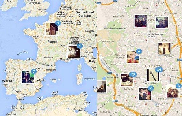 Instagram elimina el mapa de localización de las fotografías