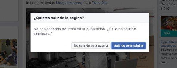 Facebook da error cuando se pulsa la arroba o la almohadilla