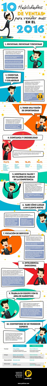 10 habilidades para convertirse en vendedor de éxito [Infografía].
