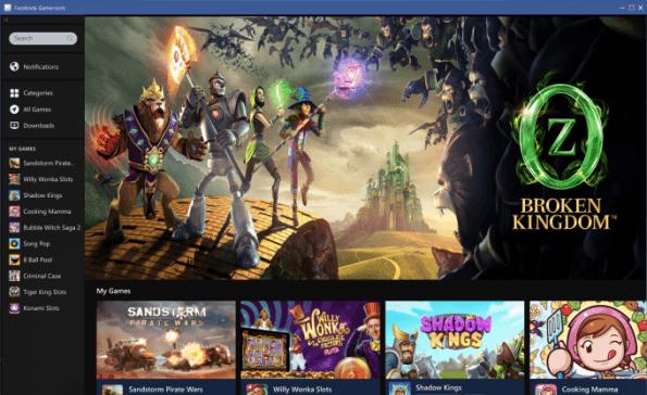 Gameroom, plataforma de videojuegos para PC de Facebook