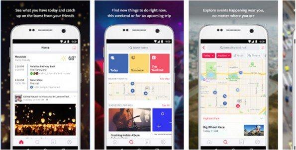 Facebook lanza en Android su nueva aplicación de eventos
