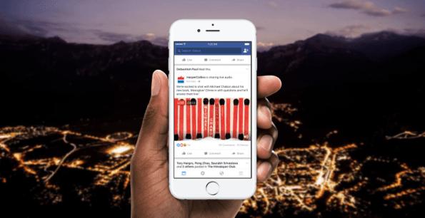 Facebook estrena las retransmisiones de audio en directo