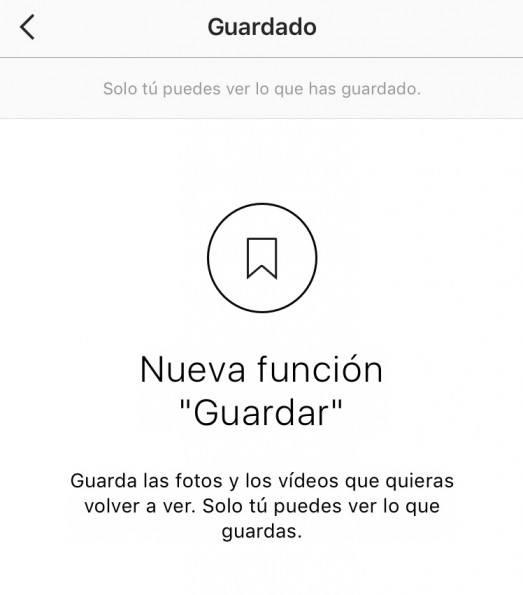 Instagram ya permite guardar fotos y vídeos para verlos después