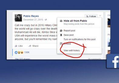 Facebook permite conocer cuántas veces se ha editado un post