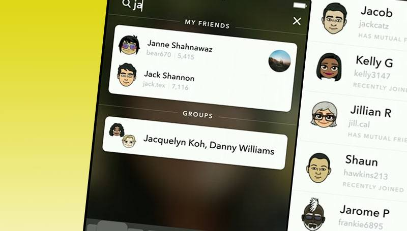 Snapchat incorpora un buscador para conseguir más seguidores