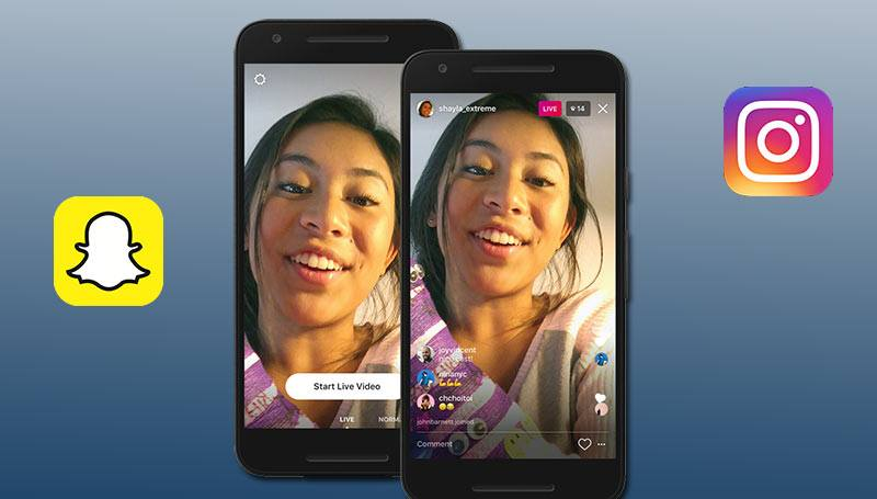 Snapchat competencia Instagram Stories