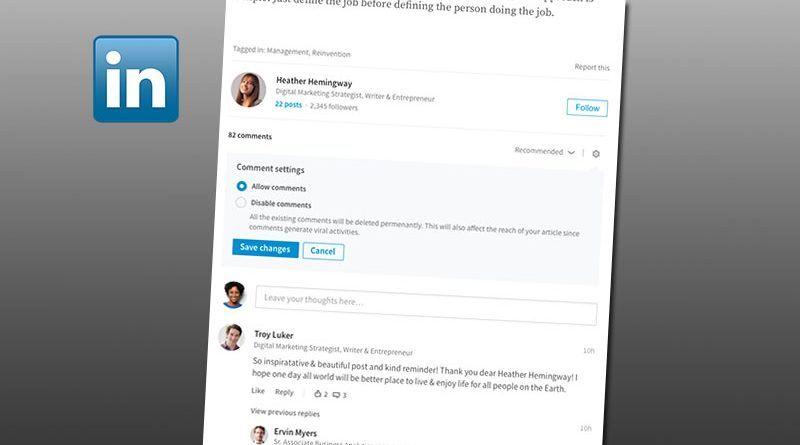 LinkedIn Comentarios
