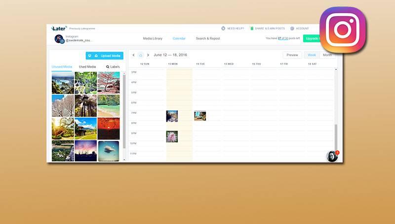 Las mejores aplicaciones para programar contenidos en Instagram
