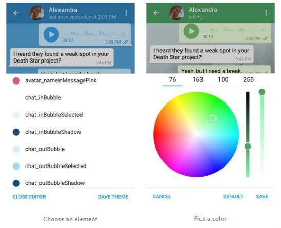 Cómo cambiar los colores y fondos de Telegram, app de mensajería