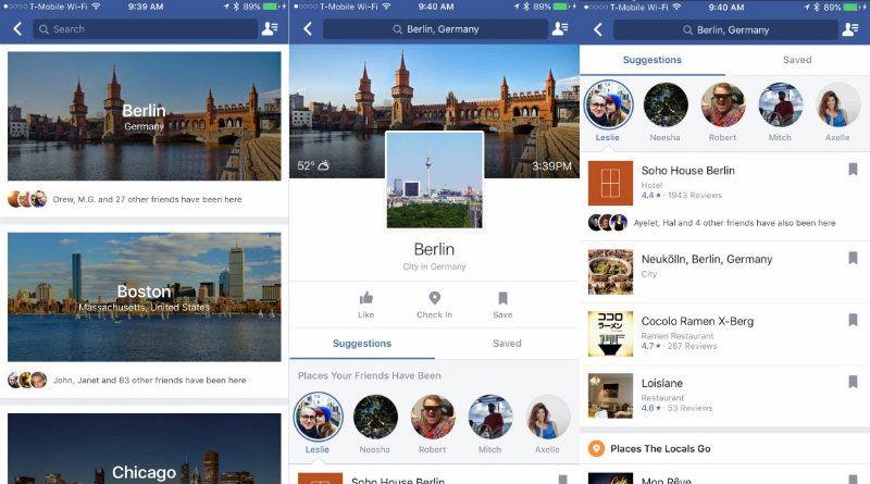 guía turística de Facebook