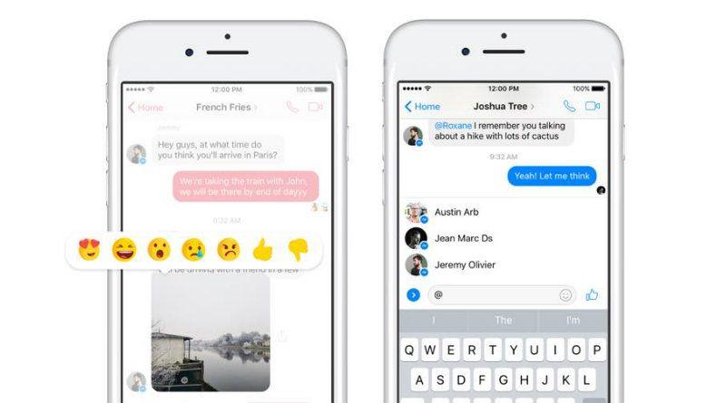 Facebook Messenger Mentions