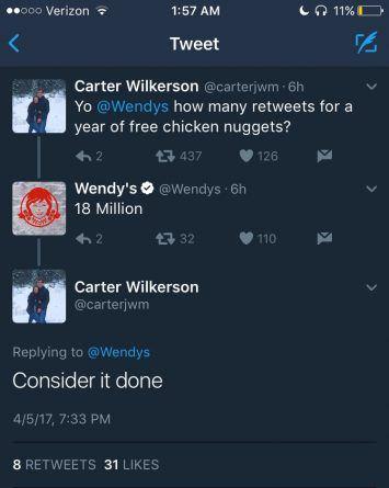 El caso Wendy's o el porqué de que un tuit se vuelve viral