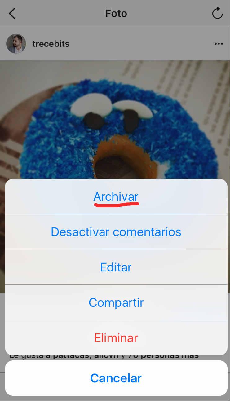 Archivo Instagram Opción