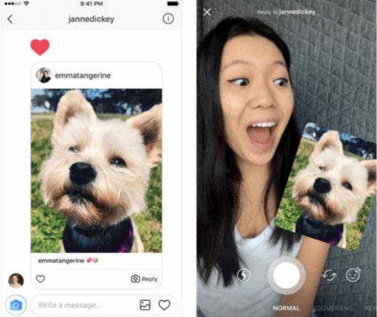 Instagram permite responder con fotos y videos -1