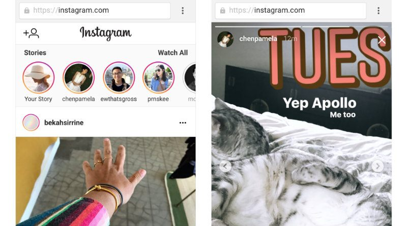 Las Stories de Instagram estarán disponibles en el ordenador