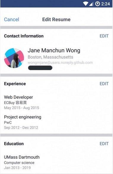 Facebook permitirá subir el currículum vitae al perfil -1