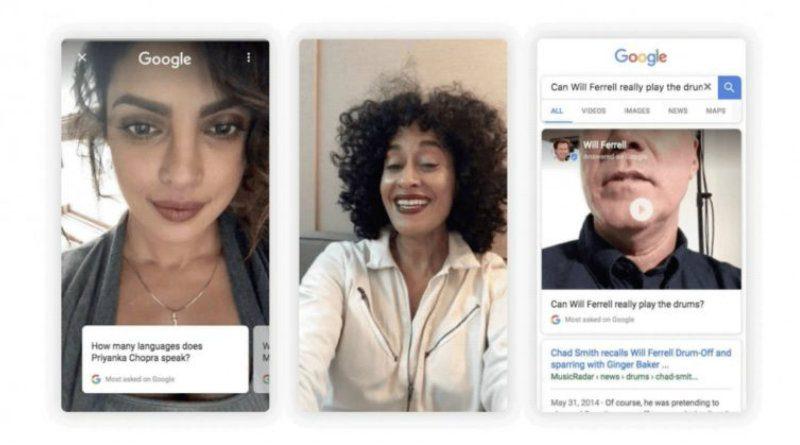 Google incluye vídeos verticales de famosos respondiendo preguntas