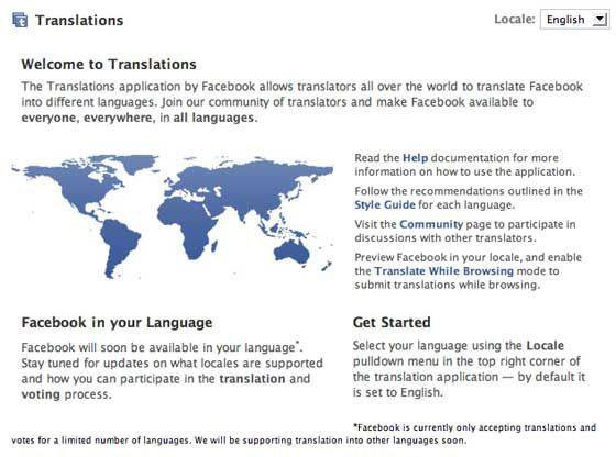 Facebook translations