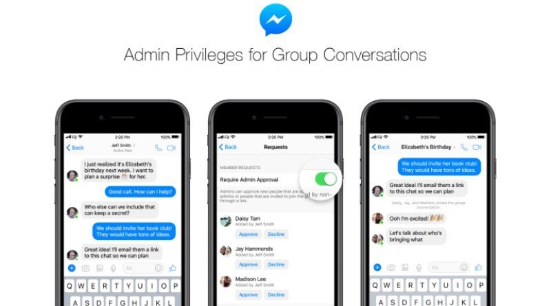 Facebook Messenger-group-admin