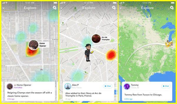 Snapchat-Map Explore
