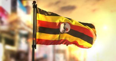 Uganda bandera