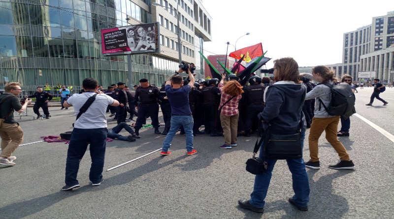 manifestación rusia telegram