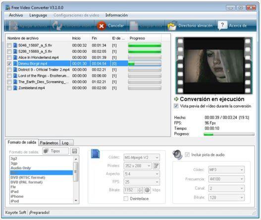 free video converter descargar vídeos