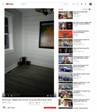 YouTube vertical