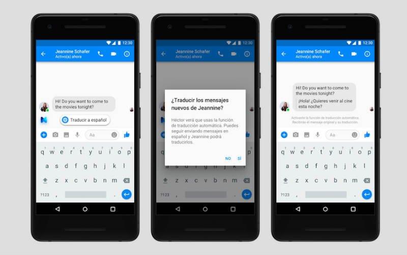 M Traducciones Facebook Messenger