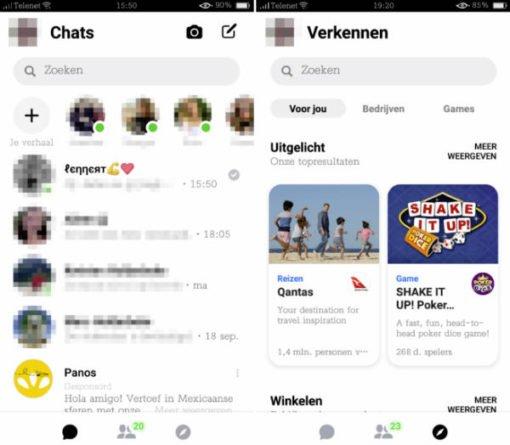 Nueva version Messenger
