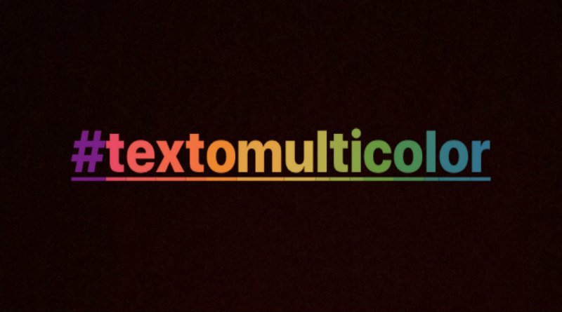 texto-multicolor