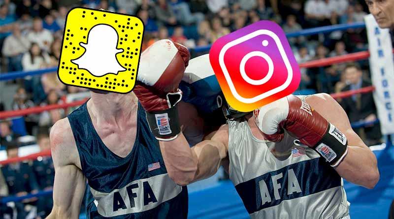 Batalla Snapchat e Instagram
