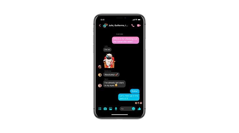 Nuevo Modo Oscuro de Messenger 4